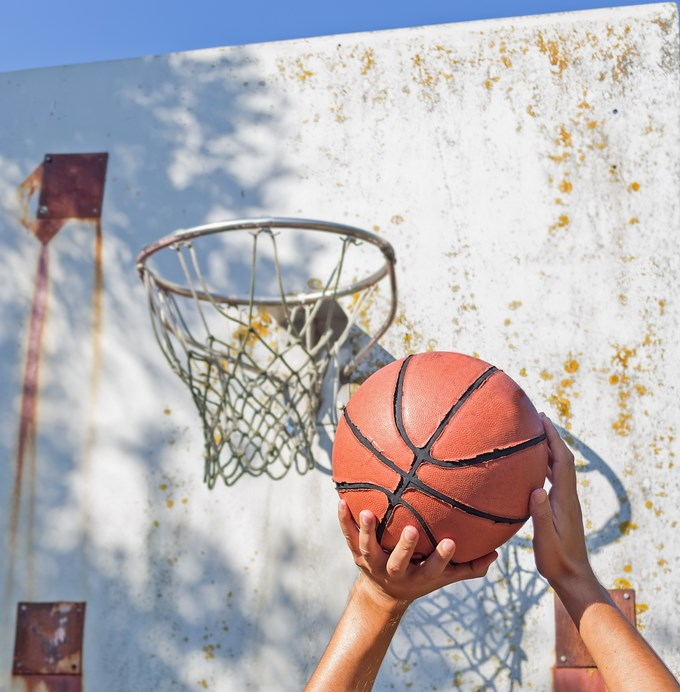 Je me débrouille pas trop mal au basket