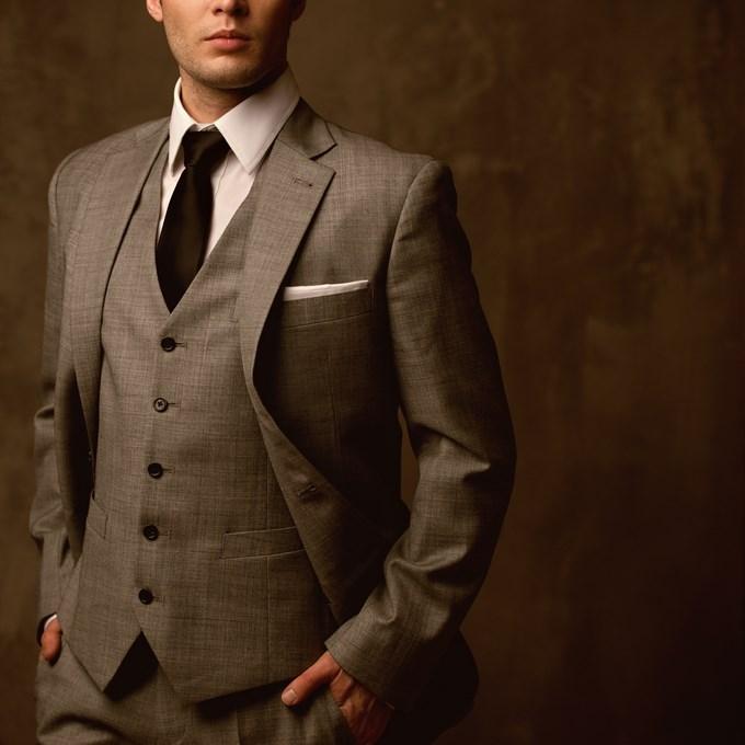 Costume gris chiné