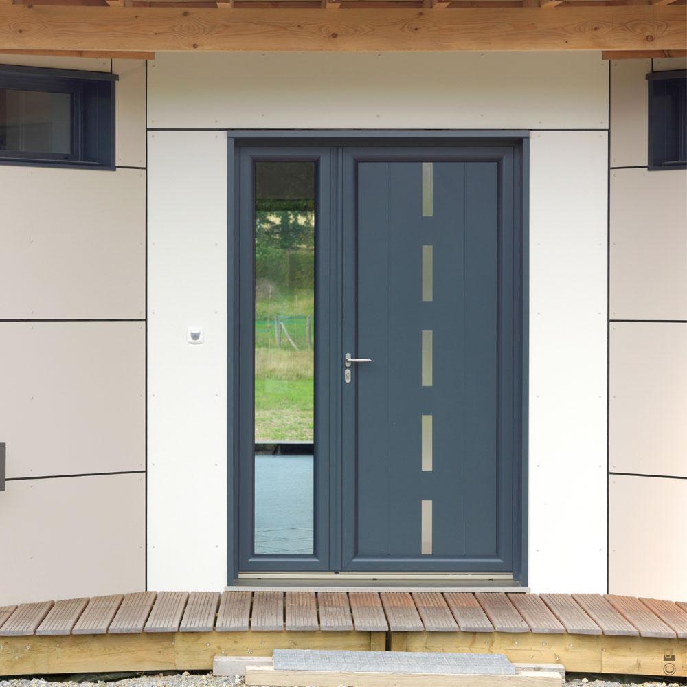 comment isoler une porte d 39 entr e. Black Bedroom Furniture Sets. Home Design Ideas